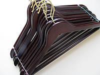 Набор вешалок  для одежды 10 шт  прямые деревянные