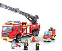 Конструктор BRICK-908 Пожарная охрана 607 дет.