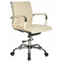 Кресло бюрократ для руководителя цвет слоновая кость CH-991-LOW/IVORY