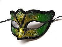 Маска карнавальная зеленая