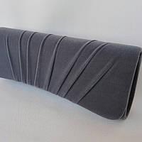 Сумка женская-клатч велюровый серый