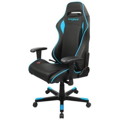 Кресло черного цвета с синими вставками DXRACER OH/DF51/NB