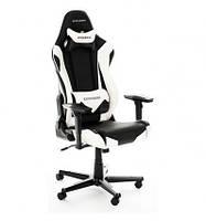 Кресло для геймера, компьютерное, черно-белое DXRACER OH/RF0/NW