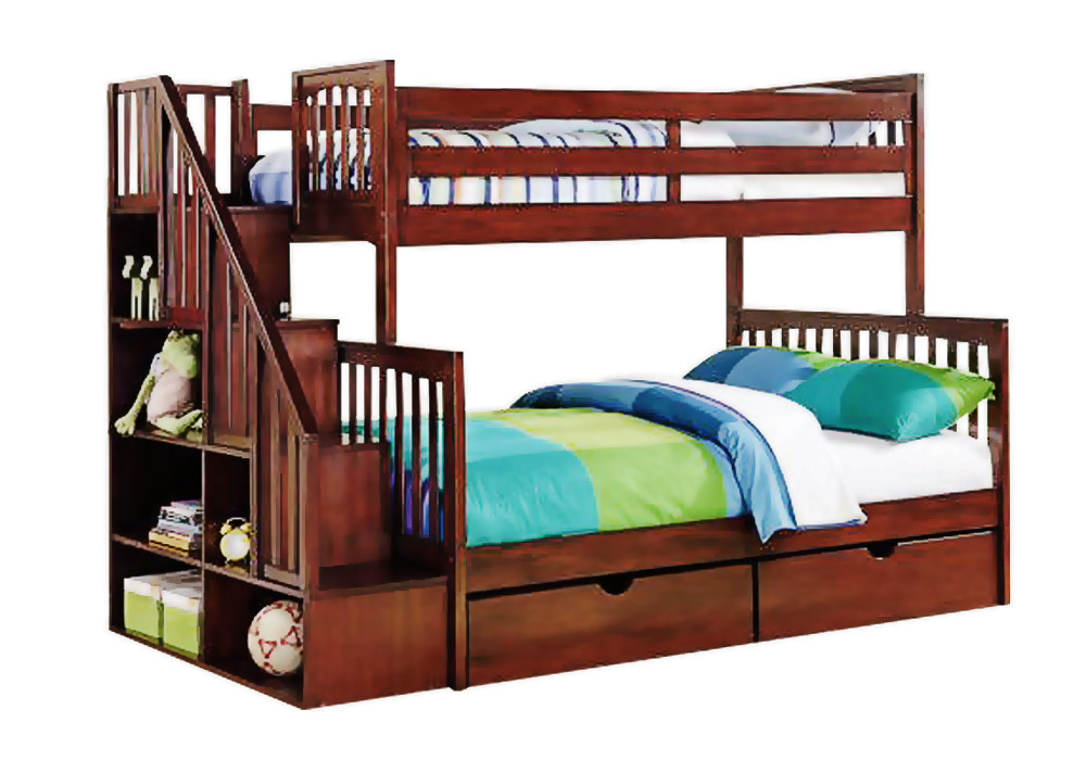 Кровать с полочками-ступеньками «Жанна»