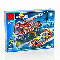 """BRICK 907 (20) """"Пожарная охрана"""" 420 деталей, в коробке"""