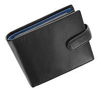 Мужское портмоне Visconti PM102 Leonardo черное с синим