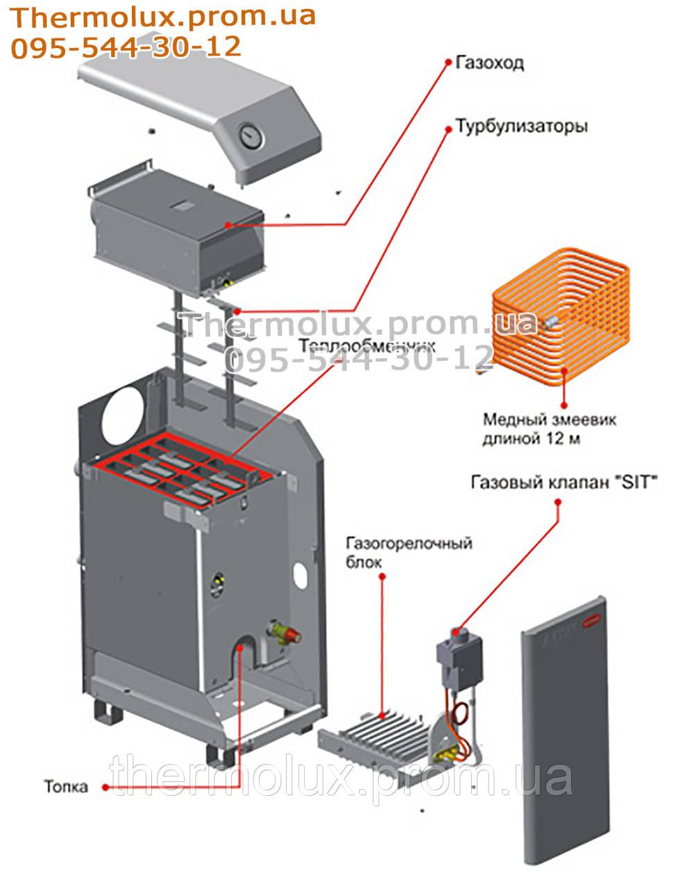 инструкция газового котлатермолюкс аогв 9 3
