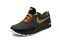 Кроссовки для мальчиков Nike 38-P Черный+св.Корич (Размеры: 32-40)