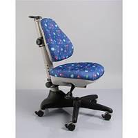 Кресло обивка синяя с мячиками MEALUX Y-317 F