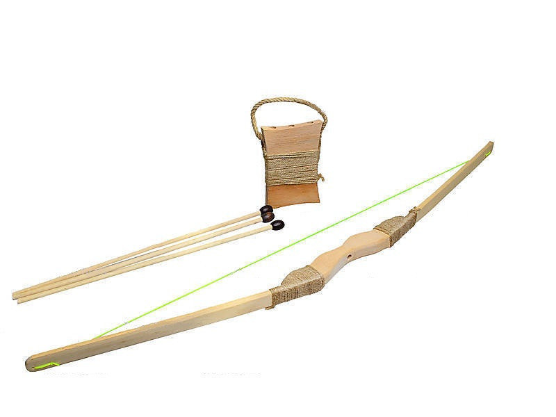 Лук деревянный со стрелами 73см, Д360ул, ТМ Руди