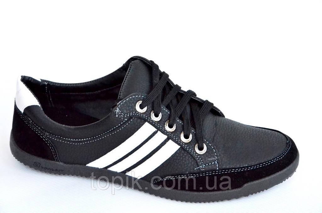 Туфли кроссовки мокасины черные Львов удобные искусственная кожа черные модель 2016. (Код: 379)