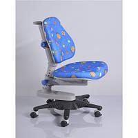 Кресло обивка синяя с жучками MEALUX Y-818 BB