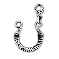 Переходник(удлинитель) к шнурку или цепи из серебра 105.030