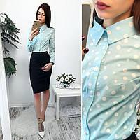 Женский деловой костюм, рубашка+ юбка