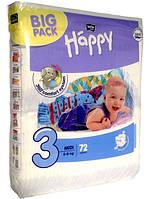 Подгузники Happy 3 (5-9 кг), 72 шт