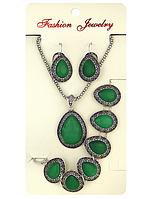 Набор: цепочка, кулон, серьги, браслет (Код: nabor_00306-1)