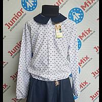 Нарядная блузка на девочку  в мелкий бантик Katherine