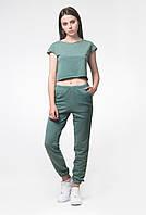 Штаны женские топик спортивный костюм зеленый