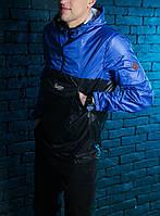 Анорак Pobedov Lightness синий с черным