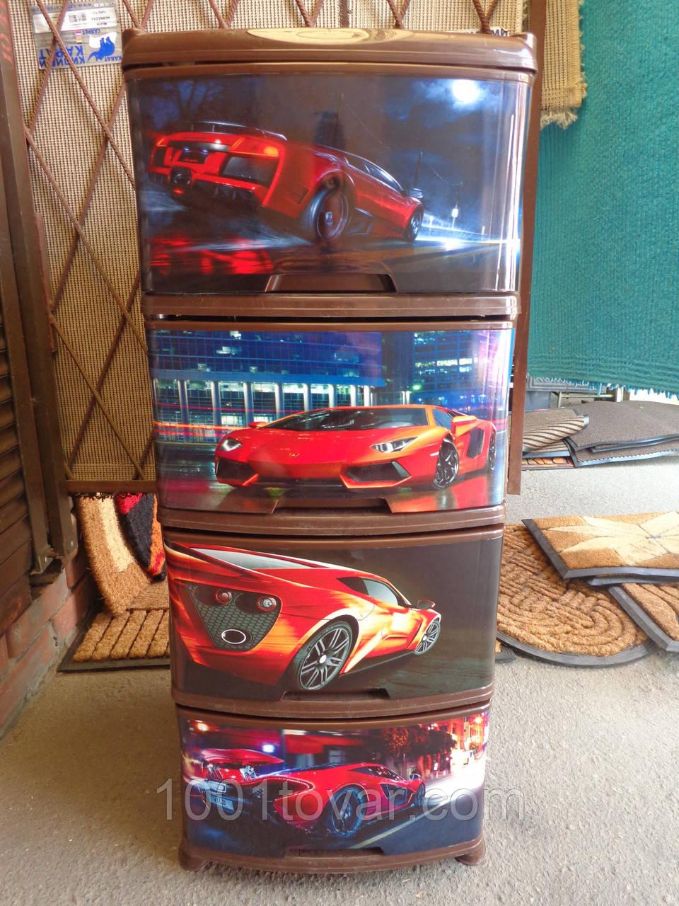 Комод пластиковий, з малюнком Авто