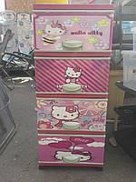Детский пластиковый комод Hello Kitty