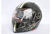 Шлем-трансформер JYX ZERO черный глянцевый