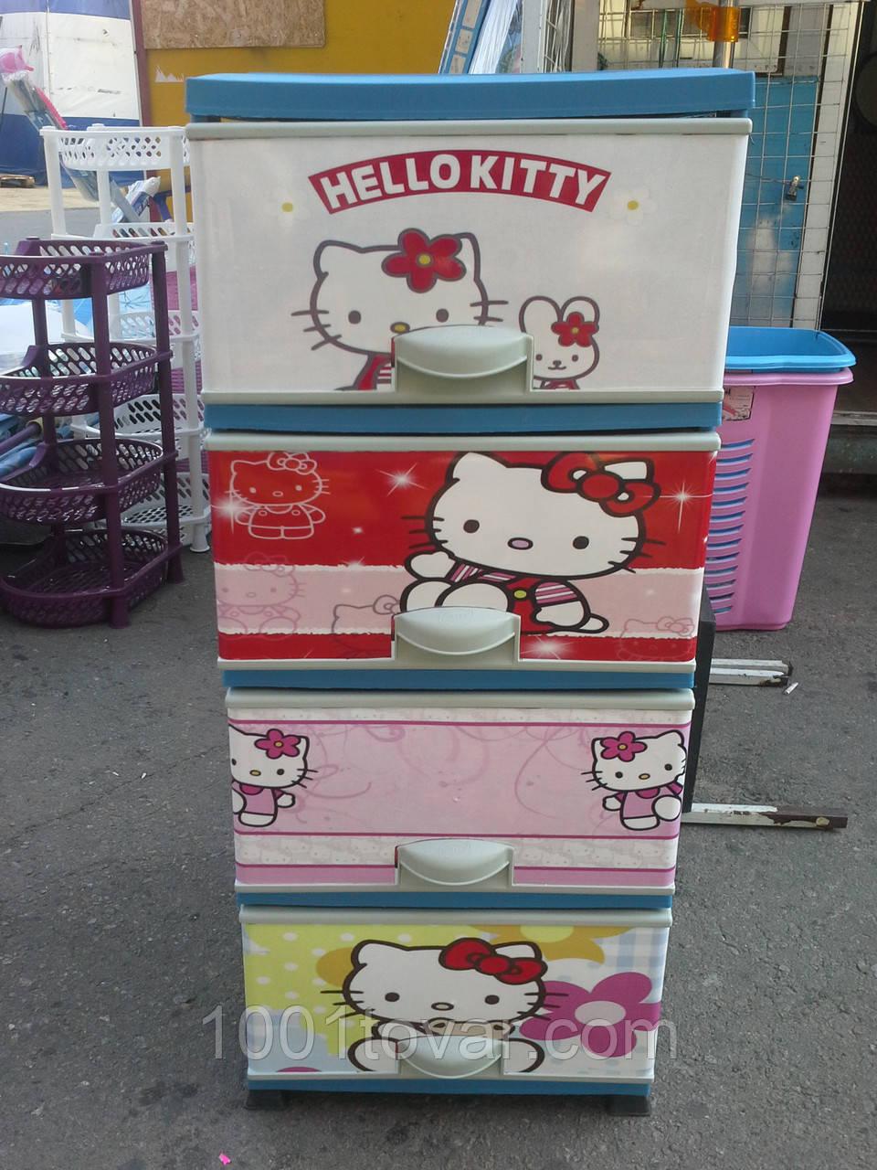 Дитячий пластиковий комод Hello Kitty 2