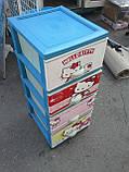 Дитячий пластиковий комод Hello Kitty 2, фото 3