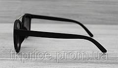 Матовые солнцезащитные очки унисекс черные, фото 3