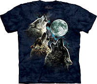 Футболка The Mountain THREE WOLF MOON IN BLUE