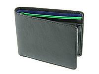 Мужское портмоне Visconti BD10 черное с зеленым