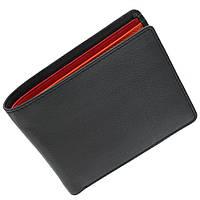 Мужское портмоне Visconti BD10 черное с оранжевым