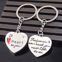 Брелок Два сердца 2 шт