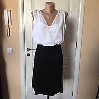 Платье женское летнее комбинированное без рукава деловое CAMAIEU