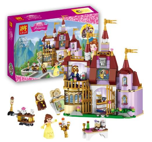 Конструктор Lele Princess / Принцесса 37001 Заколдованный замок Белль (аналог Lego Disney Princess 41067)