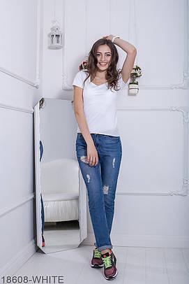 Жіноча біла футболка Fanny (XS-XXL)