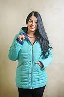 Весенняя женская куртка Марта мятного цвета