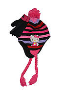 Шапочка и перчатки для девочки Hello Kitty