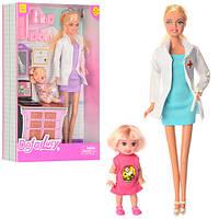 Кукла DEFA доктор, 29см,  дочка 10см, аксессуары, 2 вида, 8348
