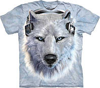 3D футболка The Mountain WHITE WOLF DJ