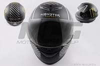 Шлем-интеграл Monster Energy black matt