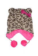 Шапочка леопардовая для девочки