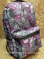 Принт рюкзак бабочки качество с кожаным дном Унисекс/спортивный спорт городской стильный(только опт)