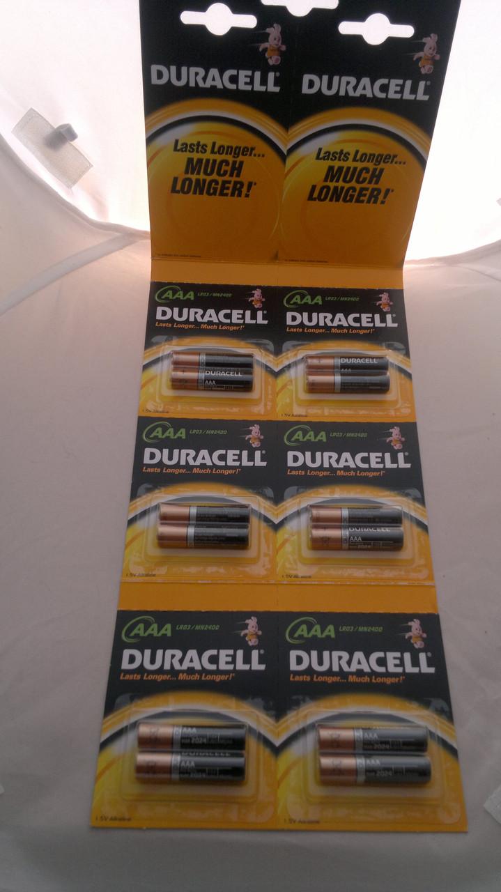 Батарейки DURACELL LR03 12 бл. Отрывной