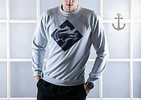 Мужской свитшот Lacoste светло-серый