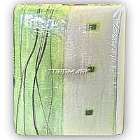 Полуторный комплект постельного белья - жатка - Зеленая абстракция