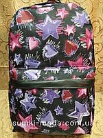 Принт рюкзак звезда-Сердце качество с кожаным дном Унисекс/спортивный спорт городской стильный(только опт), фото 1