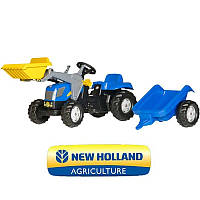 Трактор New Holland Rolly kid 023929.  Rolly toys