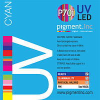 Чернила UV LED P70i PIGMENT.INC™  CYAN 1 литр