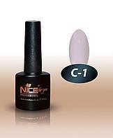 """Гель-лак Nice for you """"Cool"""" С-1 (белый, эмаль), 8.5 мл"""